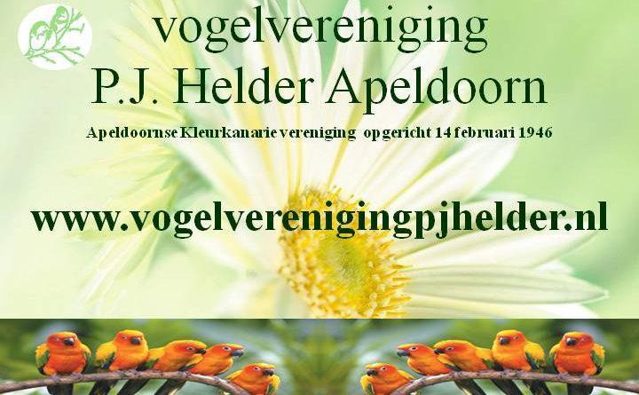 Calendar van vogelvereniging P.J. Helder Apeldoorn