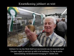 Jubilaris Cor van de Brink